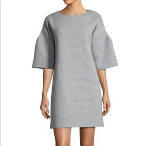 French Connection Marin Ottoman Bell-Sleeve Dress